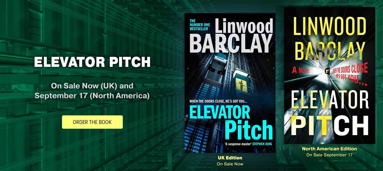 'Elevator Pitch' by Linwood Barclay